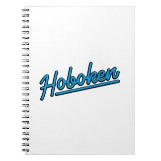 Hoboken in cyan notebook