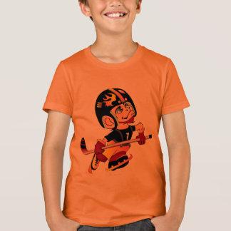 HOCKEY ALIEN CARTOON Kids' Bella+Canvas Crew T-Shi T-Shirt