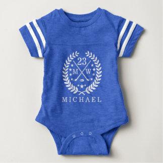 Hockey ALL-STAR Custom Initials and Name Baby Bodysuit