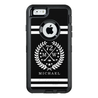 Hockey ALL-STAR Custom Initials, Name, Black OtterBox iPhone 6/6s Case