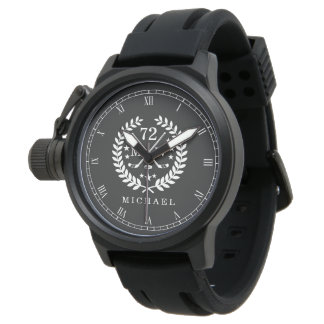 Hockey ALL-STAR Custom Initials, Name, Slate Watch
