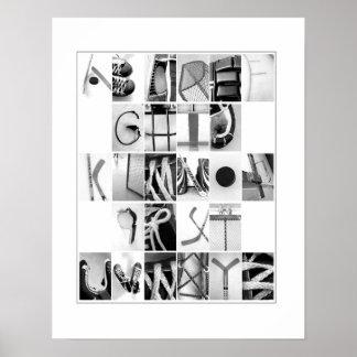 Hockey Alphabet Poster