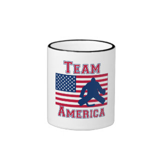 Hockey American Flag Team America Mugs