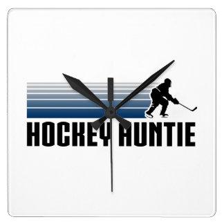 Hockey Auntie Square Wall Clock