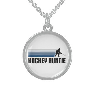 Hockey Auntie Sterling Silver Necklace
