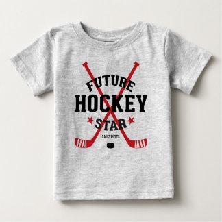 Hockey Baby Future Hockey Star Red Sticks Baby T-Shirt