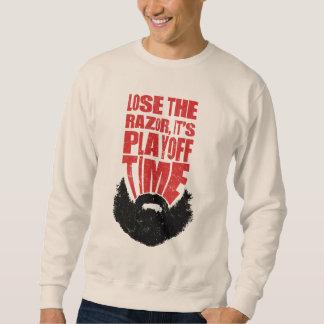 Hockey Baseball Football Play-Off Beard Sweatshirt