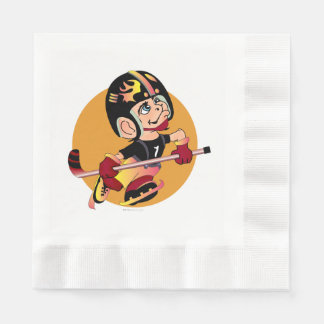HOCKEY  CARTOON  NAPKINS Coined Luncheon WHITE Disposable Serviette