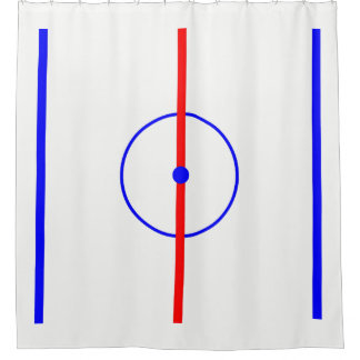 Hockey Centre Ice & Blue Lines Shower Curtain