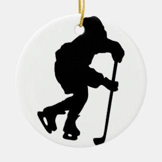 Hockey Ceramic Ornament