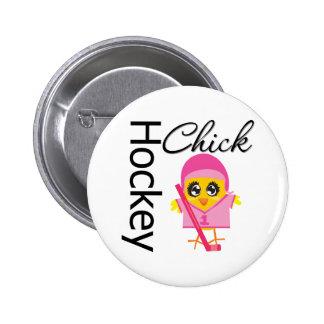 Hockey Chick 6 Cm Round Badge