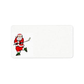 hockey Christmas Label