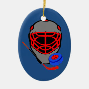 hockey christmas ornaments mask stick puck