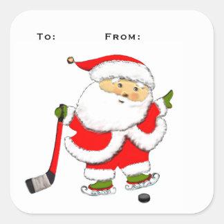 Hockey Christmas Square Sticker