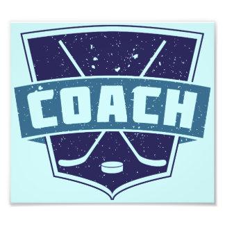 Hockey Coach Shield Design Photo Print