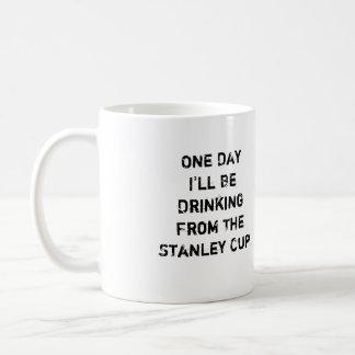 """Hockey Coffee Mug - """"One Day I'll Be Drinking..."""""""