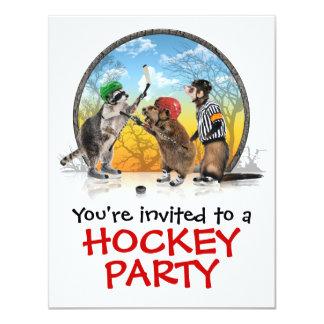 Hockey Critter Classic Party Invitation
