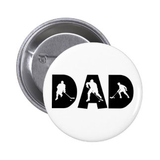 Hockey Dad Gift 6 Cm Round Badge