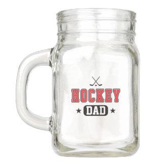 Hockey Dad Mason Jar