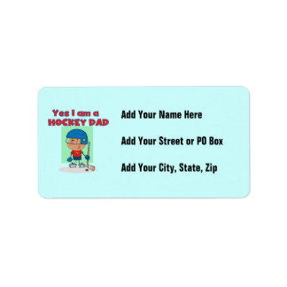 Hockey Dad T-shirts and Gifts Address Label