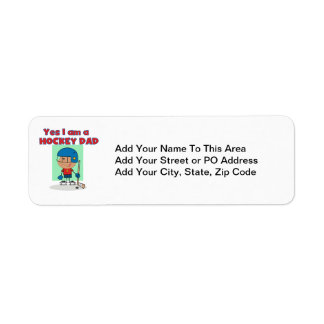 Hockey Dad T-shirts and Gifts Return Address Label