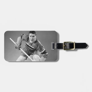 Hockey Defenseman Luggage Tag