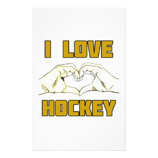 hockey design stationery