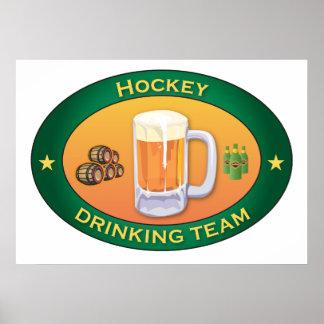 Hockey Drinking Team Poster