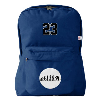 Hockey Evolution. Custom Player  Number. Backpack