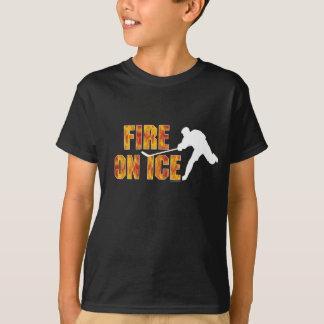 Hockey Fire On Ice T-Shirt