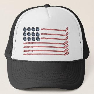hockey flag trucker hat
