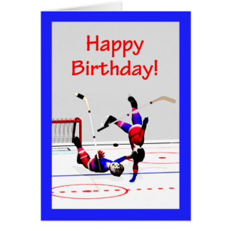 Hockey Game Birthday Card