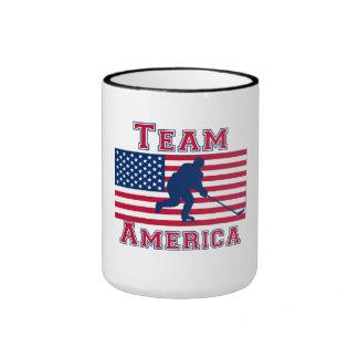 Hockey Goalie American Flag Team America Coffee Mug