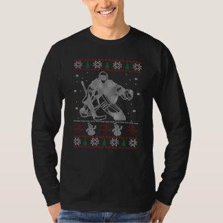 Hockey Goalie Christmas T-Shirt