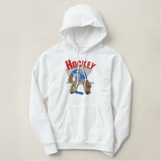 Hockey Goalie Embroidered Hoodie