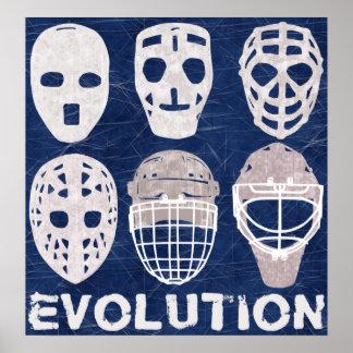 Hockey Goalie Mask Evolution Poster