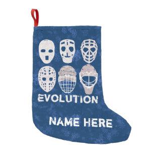 Hockey Goalie Masks Evolution Christmas Stocking