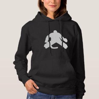 Hockey Goalie Silhouette Hoodie