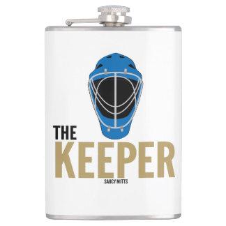 Hockey Goalie The Keeper Hip Flask
