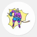 Hockey Grandma Round Sticker