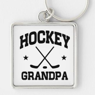 Hockey Grandpa Key Ring