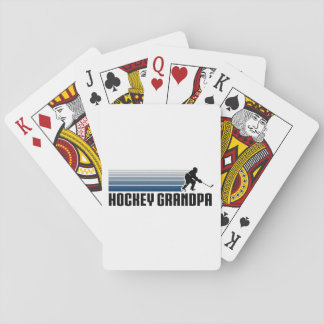 Hockey Grandpa Playing Cards