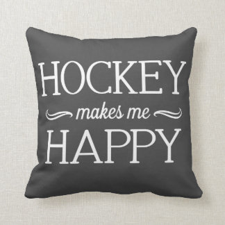 Hockey Happy Pillow - Assorted Styles & Colors