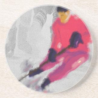 Hockey, He Shoots and Scores Art Coaster