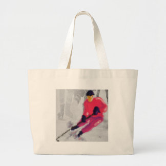 Hockey, He Shoots and Scores Art Large Tote Bag