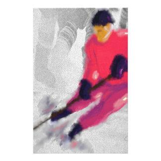 Hockey, He Shoots and Scores Art Stationery