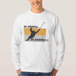 Hockey: He shoots...he scores! Tshirts