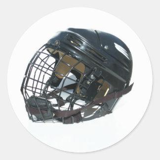 Hockey Helmet Round Sticker