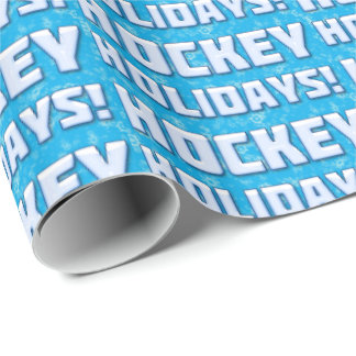 Hockey Holidays Gift Wrapping Xmas Paper