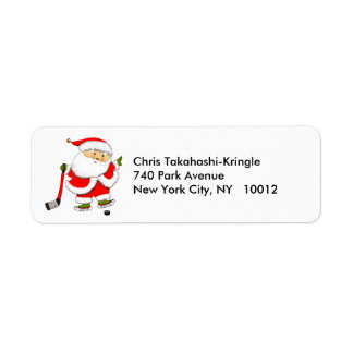 Hockey Holidays Return Address Label